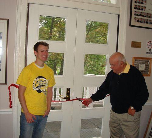 John Buck dedicating the North Porch2